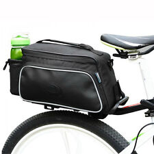 Cycling Bike Carbon Fiber Leather Bicycle Rear Rack Seat Pannier Bag Pouch 10L