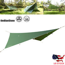 Portable Camping Awning Canopy Sunshade Rain Fly Tarp Shelter Backpacking Hiking