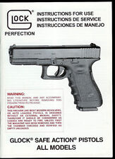 Glock Safe Action All Models Semi-Auto Pistol Factory Owner's Manual Parts List