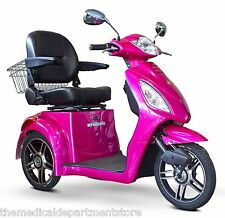 eWheels Magenta FAST EW-36 Mobility Scooter, Electric 3 Wheel Cart, 350 lb