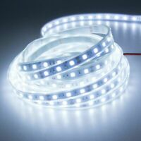 12V Input 5M SMD5050 300 LED White Waterproof Silicone Tube Flexible Strip Light