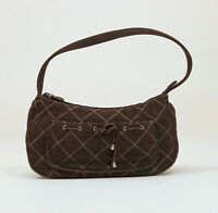 Vera Bradley Brown Quilted Small Purse 6x13x3 inches