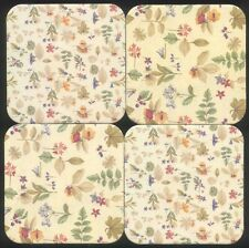 4 Longaberger Botanical Fields Coasters 2 Square old Style 2 Square New Style