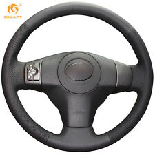 Black Leather Steering Wheel Cover Wrap for Toyota RAV4 Vios Yaris Scion XB 2008
