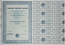 Action - Compagnie Financière MOCUPIA, action de 100 Frs N° 008226