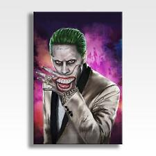 "THE JOKER CANVAS Suicide Squad Batman DC Poster Wall Art 30""x20"" CANVAS"