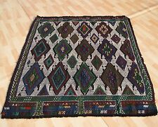 Home Decorative Turkish Hand Woven Kilim Rug Rectangle Wool Green Area Rugs 4X5
