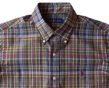 Men's RALPH LAUREN Brown Multi Plaid Shirt Small S NWT NEW Purple Pony Nice!