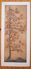 Embossed Print W. Bainam Intaglio USA 34 Inch Mid Century American Marshland I