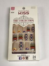 KISS THE COLLECTION NAILS MEDIUM LENGTH GLUE ON NAIL KIT SSC03 CHEVRON AZTEC