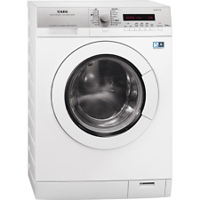 AEG L77695NWD 1600 RPM A Rated LCD Display Freestanding Washer Dryer White