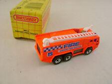 1991 MATCHBOX SUPERFAST MB 8 AIRPORT FIRE TENDER TRUCK NEW IN BOX