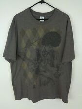 jimi hendrix shirt brown extra large xl argyle
