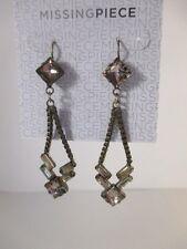 Nordstrom Missing Piece Box Link Geo Crystal Open Dangle Earrings NWT $28 set 2