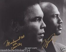 Muhammad Ali & Michael Jordan Sports Legends Reprint Signed 8x10 Photo RP