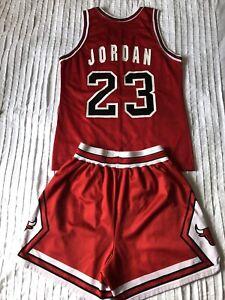 Chicago Bulls NBA Basketball Kit (Jersey & Shorts) Champion Air Jordan #23