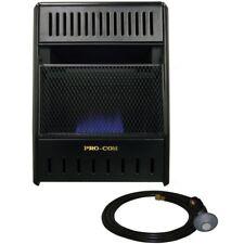 Portable Propane Gas Space Heater Vent Free Thermostat Control Micathermic Piezo