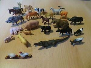 23 Spielfiguren Tiere (klein)   konvolut