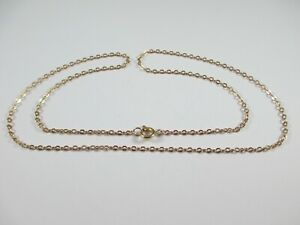 """LOVELY PRE-OWNED 19"""", HALLMARKED 9ct ROSE GOLD BELCHER CHAIN  2.9g"""
