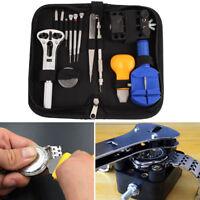 Watch Horologe Repair Case  Adjuster Tool Set Kit Opener Link Remover 13Pcs