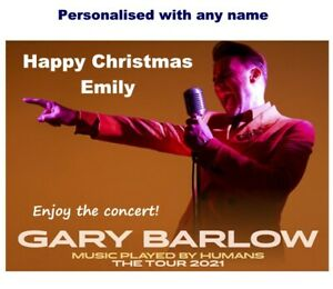 Personalised GARY BARLOW Tour Show 2021 Card Ticket Wallet Birthday Christmas