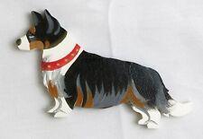 Wooden Dog Magnet Welsh Corgi Card #460 Hand Painted Classic Dandy Design New