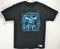 Chris Jericho Y2J T-Shirt Official WWE Wrestling Light It Up Mens Medium Black