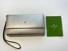 NEW Kate Spade Cedar Street Gold Wristlet iPhone 8 7/s 6/s Case Mirror & Wallet