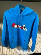 Supreme Cat in the Hat Hoodie Dr Seuss Royal Blue Size Large Used