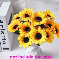 bouquet mariage de décoration fleurs artificielles tournesol de plastique