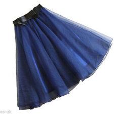 Gonne e minigonne da donna trapezi blu senza marca