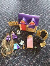 Polly Pocket Disney Princess Playset Rapunzel Dolls And Accessories