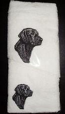 BLACK LABRADOR  HAND TOWEL & FACE WASHER- BRAND NEW