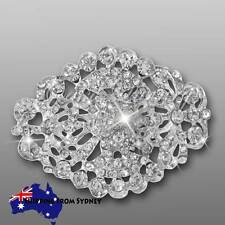 Crystal Diamante Brooch Bouquet Pin / Cake Jewellery / Invitation Embellishment