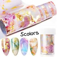 Nail Foils Marble Series Pink Blue Foils Paper Nail Sticker Nail Art Decals