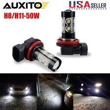 2x H8 H11 6000K Xenon White 50W High Power LED Fog Light Driving Bulb DRL LAMP