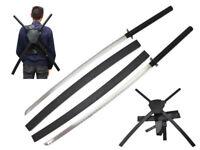 "42"" Dual Two Ninja Sword Blade w/ Back Sheath Cosplay Marvel Custome"