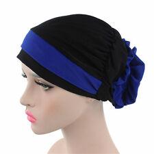 Woman Muslim Flowers Stretch Head Scarf Headwrap Turban Hat Cancer Chemo Cap