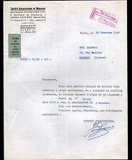 """AULNAY-sous-BOIS (93) EPICERIE """"Société AULNAYSIENNE de MAGASIN"""" en 1958"""