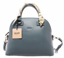 LIU JO Milano Women's Shoulder Bag Cloud Blue M Satchel Zip Gold New