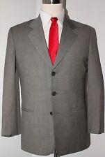 Giorgio Armani Collezioni Gray Plaid Three Button Wool Suit 39 Short 32 30 Pants