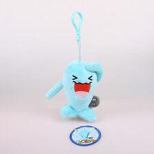 12Cm Wobbuffet Pokemon Plush Toys Soft Doll Key Chain Ring Pendant Bag Strap
