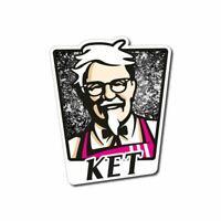 KET Sticker / Decal - KFC LSD XTC THC 420 Dope High Parody Funny Laptop Ketamine