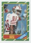 Jerry Rice HOF 1986 Topps Rookie # 161 - NM/MT