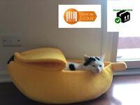 Niche panier coussin Petit chien ou chat Coussin moelleux et chaud Style Banane
