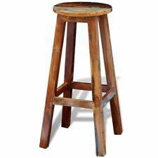 vidaXL Bar Stool Reclaimed Solid Wood Handmade Vintage Rustic Antique Home Seat