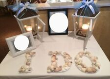 Engagement / Wedding Seashell /Beach Letters Decor/ Display
