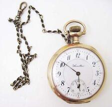 Estate 954 16 Size 17 Jewel Uncommon Pocket Watch w/ Hamilton Case Rare