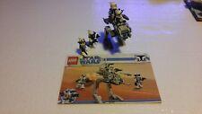 Lego Star Wars Clone Trooper Battle Pack 8014 Walker 100% COMPLETE All FIGS