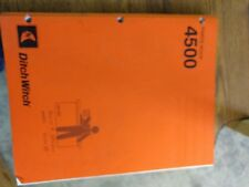 DITCH WITCH  4500 Parts Book